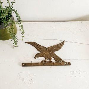 Brass eagle key rack